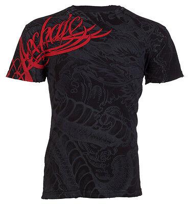 Archaic Affliction Mens T Shirt Dragon Rage Tattoo Black Fight Biker Mma Ufc  40