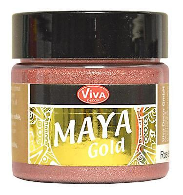 MAYA GOLD Farbe  Metallic-Effektfarbe VIVA DECOR 45 ml ROSÉ-GOLD 909