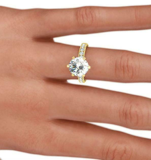 Natural 1.5 Carat Appraised Vs1 D Round Cut Diamond Ring 18k Yellow Gold Holiday