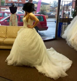 Brand new Alfred Angelo Disney Belle wedding dress with glitter tulle skirt, model 254