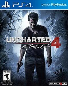 Selling PS4 Uncharted 4 A Thief's End