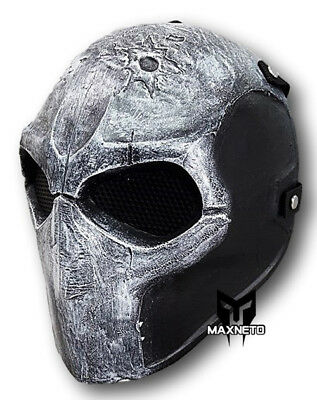Army Two Airsoft Paintball BB Gun Tactical Full Face Mask Mesh Protective Gear