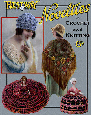 Bestway #144 c. 1920  Vintage Novelties Patterns in Crochet and Knitting