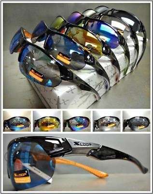 WHOLESALE LOT HIGH QUALITY SPORTY WRAP Cycling Fishing SUN GLASSES 6 or 12 (Polycarbonate Glasses Wholesale)