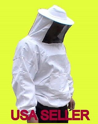 Sale Pro Beekeeping Smock - Jacket - Bee Suit - Hat Veil-large Size Us Seller