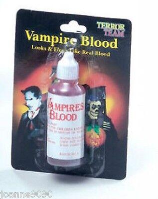 Horror ARTIFICIAL BOTE DE Sangre Roja vampiro para Halloween Accesorio disfraz (Halloween Disfraz De Vampiro)