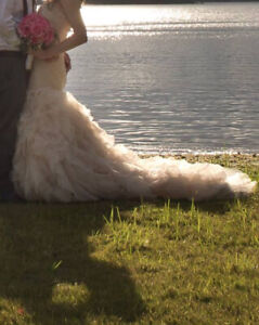 Champagne Pink Allure Bridal Gown $1200 OBO