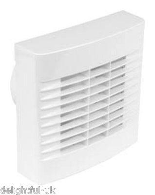 "Airvent Humidity Control Bathroom Extractor Fan 4"" 100mm - Humidistat & Pullcord"
