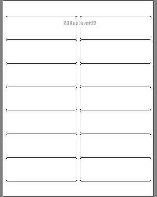 1400 Blank 1 13 X 4 White Address Laser Return Mailing Labels 100 Sheets