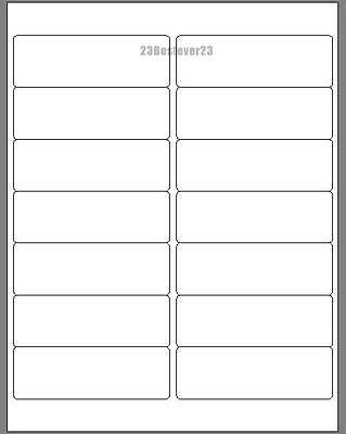 14000 Blank 1 13 X 4 White Address Laser Return Mailing Labels 1000 Sheets