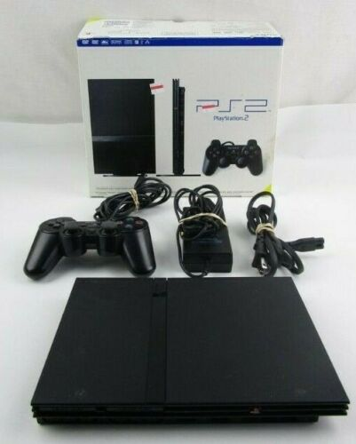 PlayStation 2 PS2 Slim TESTED with Memory Card and Cables. TESTED & WARRANTY.