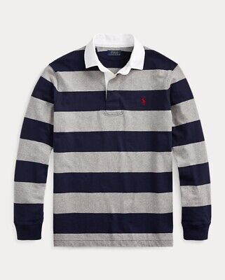 ***X-Large***Polo Ralph Lauren Men's Striped Iconic Rugby Classic Fit -
