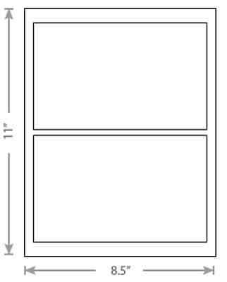100 Sheets White Laser Inkjet 7.75x4.75 Usps Postage Shipping Labels 2-up
