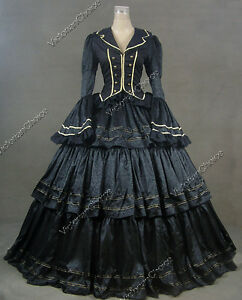 Civil-War-Victorian-Brocade-and-Cotton-Ball-Gown-Dress-Prom-188-S