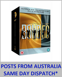 JAMES BOND COMPLETE 22 FILM 50TH ANNIVERSARY COLLECTION DVD BOX SET