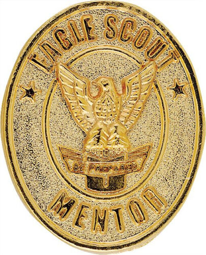 Boy Scouts of America Eagle Scout Gold Tone Mentor Pin for Court of Honor