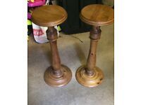 Ducal solid pine plant stands never used