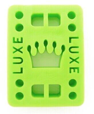 "Luxe 1/2"" Straight Wall Skateboard Longboard Riser Pads (2 pcs) - GREEN"