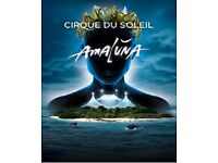 Cirque Du Soleil - Amaluna tickets x 2 for SATURDAY, JANUARY 28, 2017 at 8pm