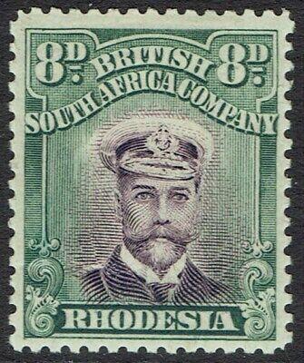 RHODESIA 1913 KGV ADMIRAL 8D DIE II PERF 14