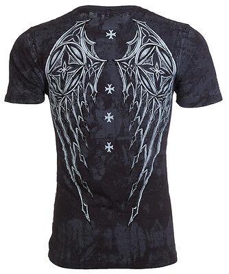 Archaic AFFLICTION Mens T-Shirt STONE RANGER Cross Tattoo Biker UFC M-3XL $40 - Ranger Tattoo