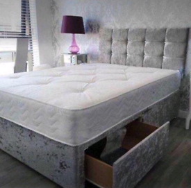 LOVELY DIVAN bed set with luxury mattress and FREE MATCHING HEADBOARD