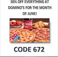 Dominos Pizza Day Code 672