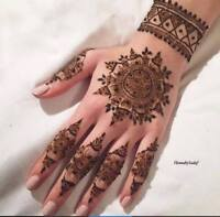 HENNA / MENDHI ARTIST AVAILABLE IMMEDIATELY