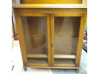 Oak Bookcase - Beautiful Antique/Vintage Bookcase with Glass Doors!!!