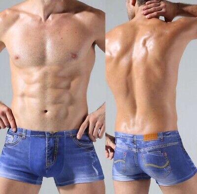 Denim Print Boxer Shorts Fancy Dress Swimming Boxer - Boxer Kostüme