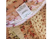Laura Ashley cotton ditsy pretty double quilt