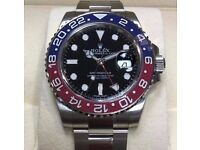 rolex gmt pepsi-includes rolex wave box papers cards and certificate