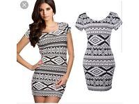 NEW H&M Aztec mini dress size 8