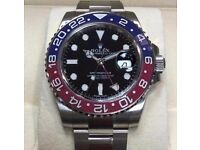 rolex gmt ii pepsi boxed with papers sapphire glass ceramic bezal waterproof tested