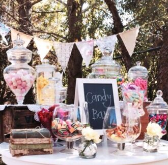 Vintage Empire Lolly Buffet / Candy Jars for Hire