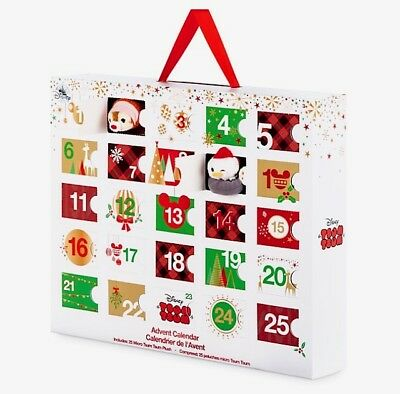 DISNEY MICRO TSUM ADVENT CALENDAR CHRISTMAS 25 HOLIDAY SET DECEMBER 2017 NEW NIB