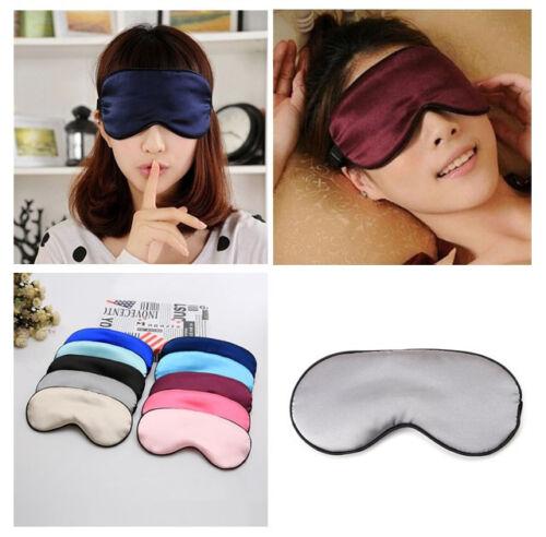 Fashion Pure Silk Sleep Eye Mask Padded Shade Cover Travel Relax Aid Blindfold