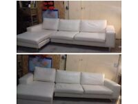 White Leather Concept Sofa