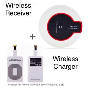 Fast Wireless Charger + Wireless Receiver Module for iPhones