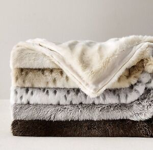 Luxe Faux Fur Stroller Baby Blanket - RH Baby & Child Strathcona County Edmonton Area image 1