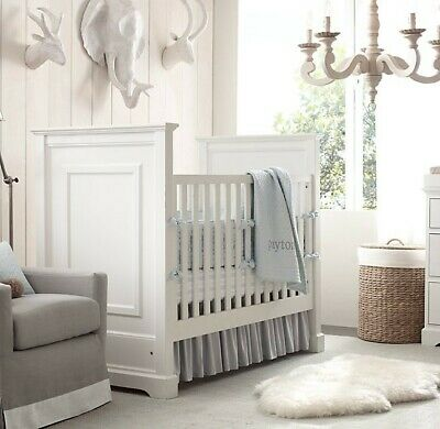 Restoration Hardware White Marlowe Crib & Toddler Bed $650 or best