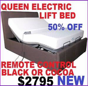 BRAND NEW QUEEN ELECTRIC REMOTE CONTROL LIFT BED WITH MATTRESS Ipswich Region Preview