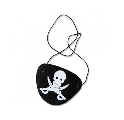 Parche para el Ojo Pirata Calavera Accesorios Disfraz Carnaval Cumpleaños Niños