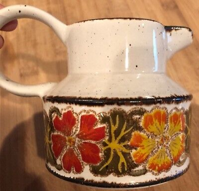 Midwinter England Flower Earth Pattern Tea Pitcher Coffee Milk Creamer Dip Sauce