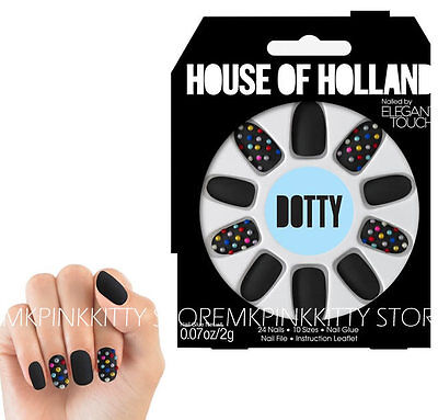 House Of Holland Nails By Elegant Touch - DOTTY  >> NEW