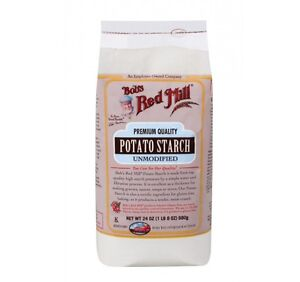 Potato Starch, Unmodified, 24 oz (680 g) - Bob's Red Mill - Damaged