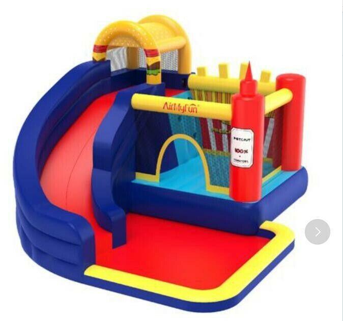 Inflatable Moonwalk Jungle Bounce House Jumper Bouncy Kids J