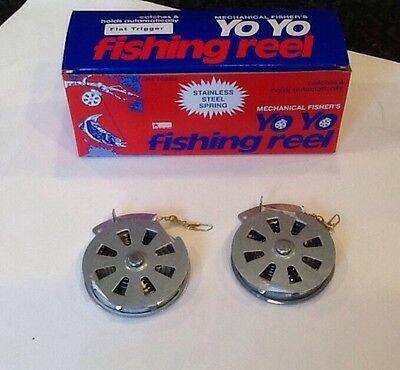 2-Mechanical Fisher's Automatic Yo Yo Fishing Reel Camping Survival (Mechanical Fisher Yo Yo Automatic Fishing Reel)