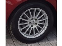 17'' alloy wheels & tyres 5 X 108 Bolt Pattern Jaguar XF, will fit vehicles with same bolt pattern.