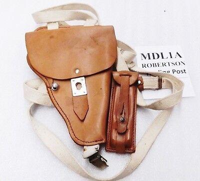 German Leather Shoulder Holster PPK Makarov P64 type MDL1A w/ Mag Case $3 ship , used for sale  Henderson